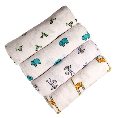 Пеленки Jungle jam swaddle (набор из 4-х шт.) aden+anais