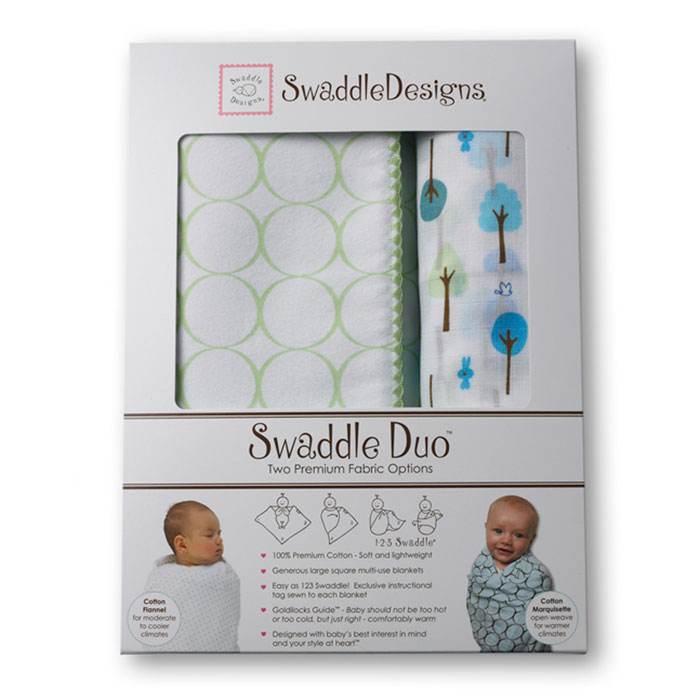 Набор пеленок SwaddleDesigns Swaddle Duo KW Cute & Wild