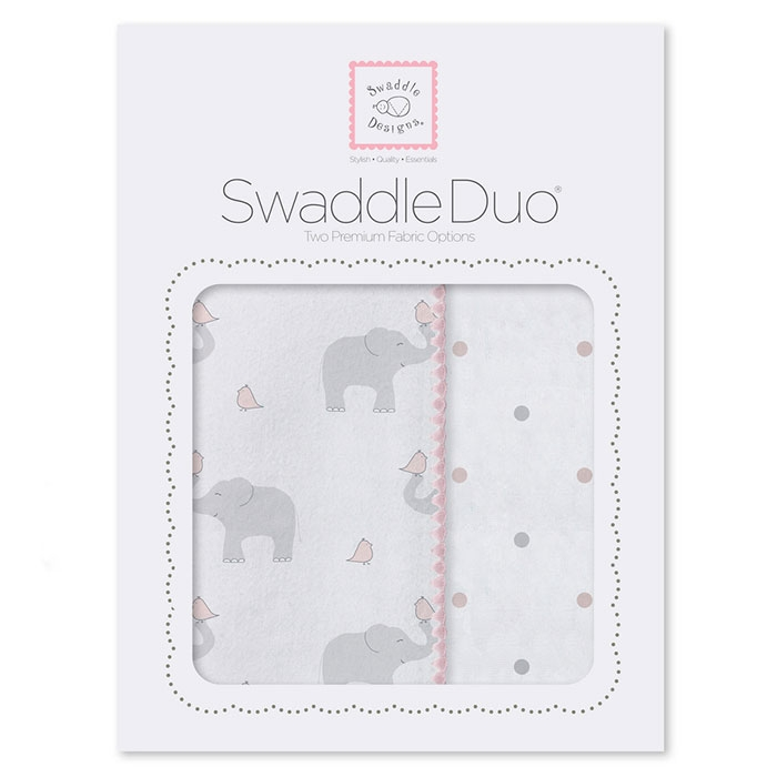 Набор пеленок SwaddleDesigns Swaddle Duo PP Elephant/Chickies